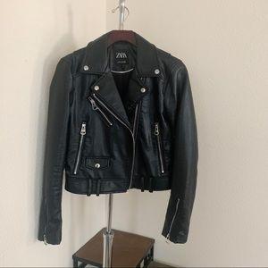 Zara Faux Leather Jacket.